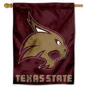Texas State Bobcats New Logo Double Sided House Flag