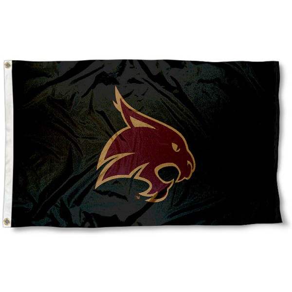 Texas State Bobcats University Flag measures 3'x5', is made of 100% poly, has quadruple stitched sewing, two metal grommets, and has double sided Texas State Bobcats University logos. Our Texas State Bobcats University Flag is officially licensed by the selected university and the NCAA