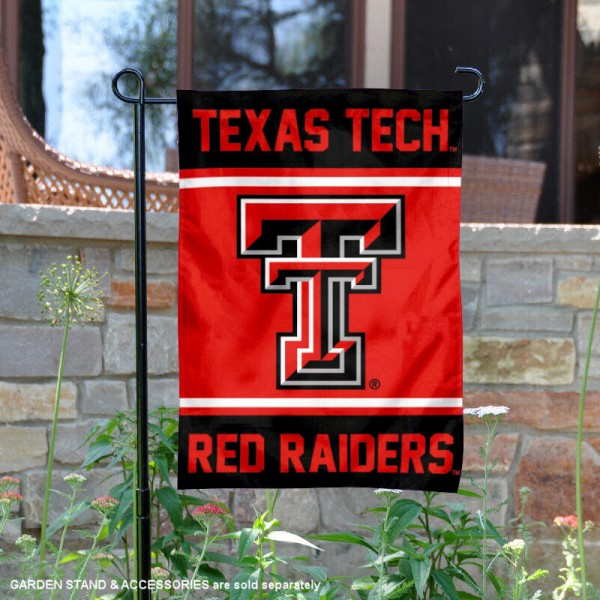 Texas Tech Garden Flag is 13x18 inches in size, is made of 2-layer polyester, screen printed logos and lettering. Available with Same Day Express Shipping, Our Texas Tech Garden Flag is officially licensed and approved by the NCAA.