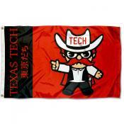 Texas Tech Kawaii Tokyodachi Yuru Kyara Flag