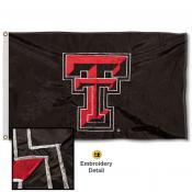 Texas Tech Nylon Embroidered Flag