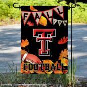 Texas Tech Red Raiders Fall Football Autumn Leaves Decorative Garden Flag