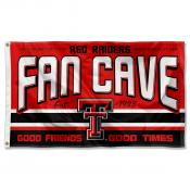 Texas Tech Red Raiders Fan Man Cave Game Room Banner Flag