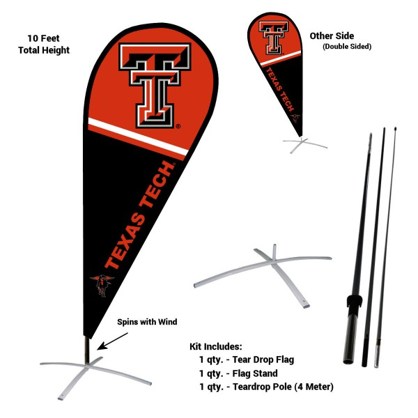 Texas Tech Red Raiders Feather Flag Kit