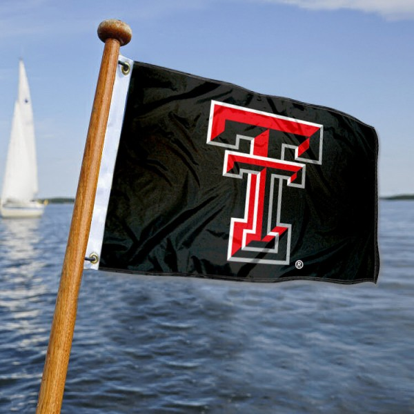 Texas Tech Red Raiders Nautical Flag measures 12x18 inches, is made of two-ply polyesters, offers quadruple stitched flyends for durability, has two metal grommets, and is viewable from both sides. Our Texas Tech Red Raiders Nautical Flag is officially licensed by the selected university and the NCAA and can be used as a motorcycle flag, golf cart flag, or ATV flag
