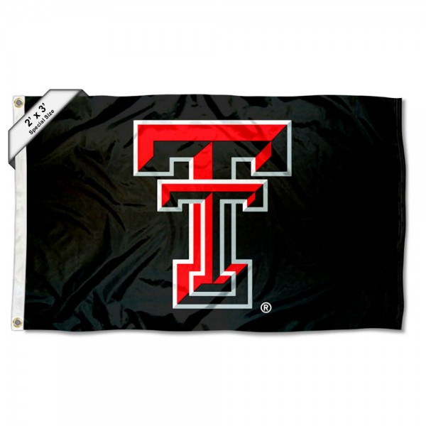 Texas Tech Red Raiders Small 2'x3' Flag measures 2x3 feet, is made of 100% polyester, offers quadruple stitched flyends, has two brass grommets, and offers printed Texas Tech Red Raiders logos, letters, and insignias. Our 2x3 foot flag is Officially Licensed by the selected university.