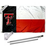 Texas Tech Red Raiders State Flag Pole and Bracket Kit