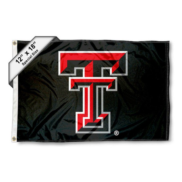 Texas Tech University Mini Flag is 12x18 inches, polyester, offers quadruple stitched flyends for durability, has two metal grommets, and is double sided. Our mini flags for Texas Tech University are licensed by the university and NCAA and can be used as a boat flag, motorcycle flag, golf cart flag, or ATV flag