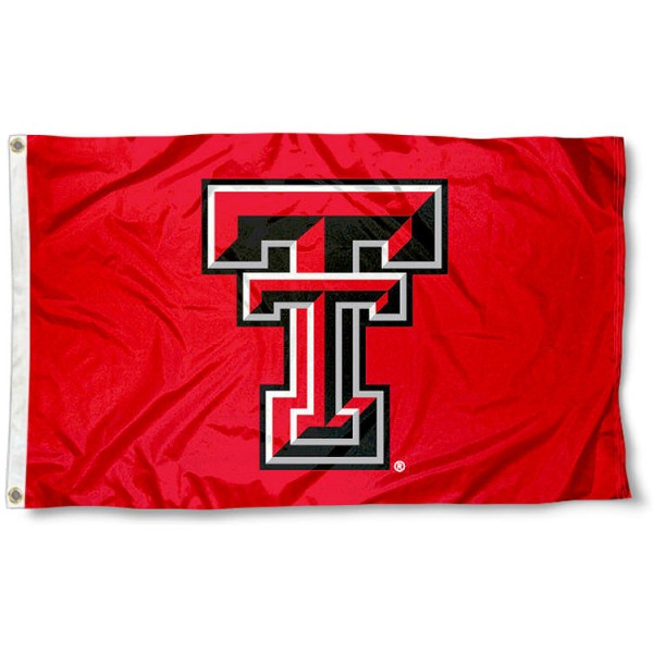 Texas Tech University Polyester Flag measures 3'x5', is made of 100% poly, has quadruple stitched sewing, two metal grommets, and has double sided Texas Tech University logos. Our Texas Tech University Polyester Flag is officially licensed by the selected university and the NCAA