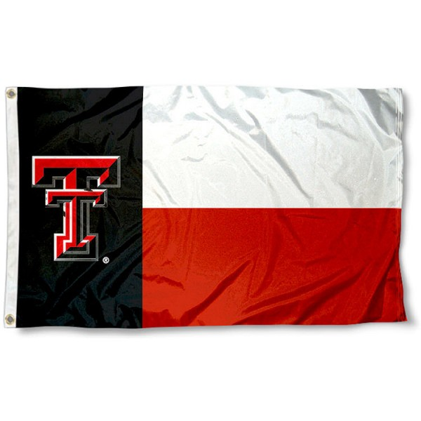 Texas Tech University State Flag is 3x5 ft, polyester, four stitched, and is screen printed. Our Texas Tech University State Flag is Licensed by the NCAA, shipped Same Day, and a quality flag buy.
