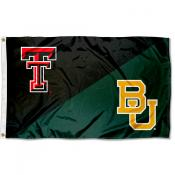 Texas Tech vs. Baylor House Divided 3x5 Flag
