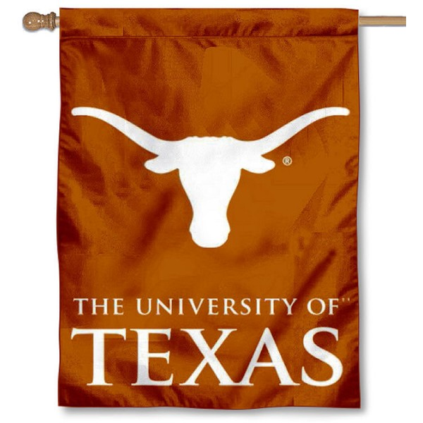 Texas UT Longhorns Banner Flag is a vertical house flag which measures 30x40 inches, is made of 2 ply 100% polyester, offers dye sublimated NCAA team insignias, and has a top pole sleeve to hang vertically. Our Texas UT Longhorns Banner Flag is officially licensed by the selected university and the NCAA.