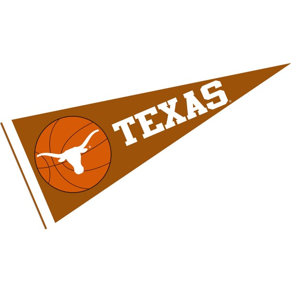 Texas UT Longhorns Basketball Pennant consists of our full size sports pennant which measures 12x30 inches, is constructed of felt, is single sided imprinted, and offers a pennant sleeve for insertion of a pennant stick, if desired. This Texas UT Longhorns Pennant Decorations is Officially Licensed by the selected university and the NCAA.