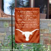 Texas UT Longhorns Fight Song Garden Flag