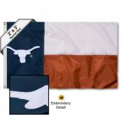 Texas UT Longhorns Small Texas State 2'x3' Flag