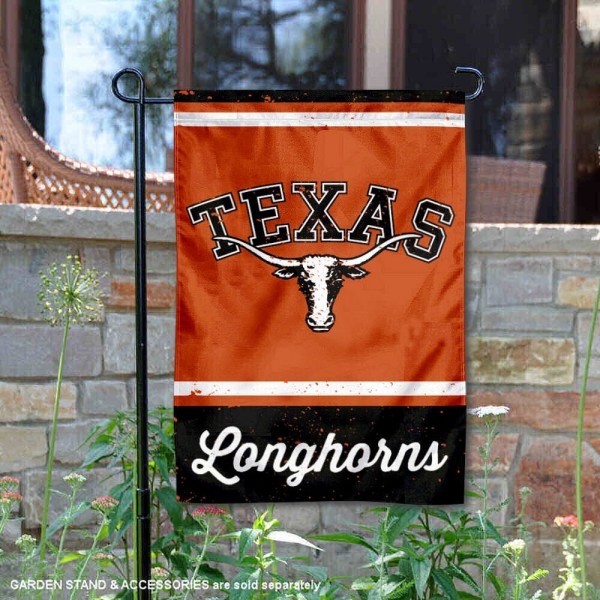 Texas UT Longhorns Vintage Vault Garden Flag is 12x18 inches in size, is made of 1-layer polyester, screen printed logos and lettering, and is viewable on both sides. Available same day shipping, our Texas UT Longhorns Vintage Vault Garden Flag is officially licensed and approved by the university and the NCAA.