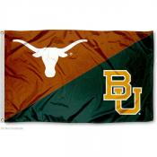 Texas vs. Baylor House Divided 3x5 Flag