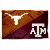 Texas vs. Texas A&M House Divided 3x5 Flag