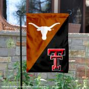 Texas vs. Texas Tech House Divided Garden Flag