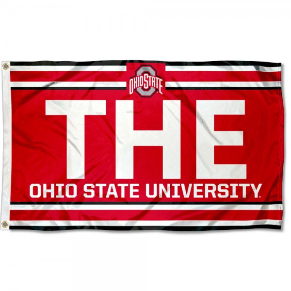 THE Ohio State University Banner Flag is made of 100% nylon, offers quad stitched flyends, measures 3x5 feet, has two metal grommets, and is viewable from both side with the opposite side being a reverse image. Our Ohio State Buckeyes Banner Flag is officially licensed by the selected college and NCAA