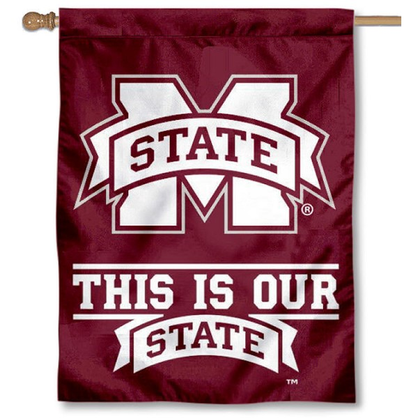 This is Our State MSU Bulldog Banner is a vertical house flag which measures 30x40 inches, is made of 2 ply 100% polyester, offers dye sublimated NCAA team insignias, and has a top pole sleeve to hang vertically. Our This is Our State MSU Bulldog Banner is officially licensed by the selected university and the NCAA.