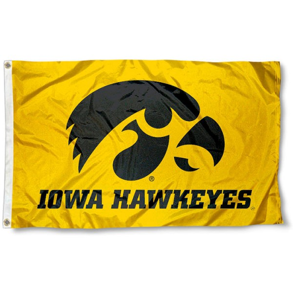 Tiger Hawk Yellow Flag measures 3'x5', is made of 100% poly, has quad-stitched sewing, two metal grommets, and has double sided University of Iowa logos. Our Tiger Hawk Yellow Flag is officially licensed by the university and the NCAA.