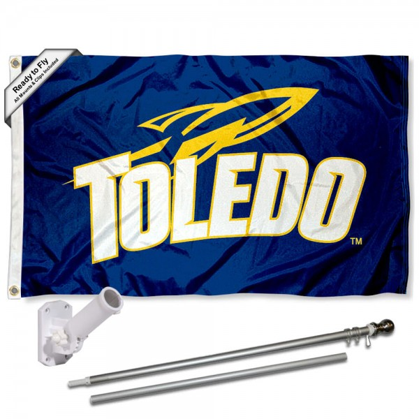 Toledo Rockets Flag Pole and Bracket Kit