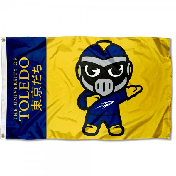 Toledo Rockets Kawaii Tokyo Dachi Yuru Kyara Flag measures 3x5 feet, is made of 100% polyester, offers quadruple stitched flyends, has two metal grommets, and offers screen printed NCAA team logos and insignias. Our Toledo Rockets Kawaii Tokyo Dachi Yuru Kyara Flag is officially licensed by the selected university and NCAA.