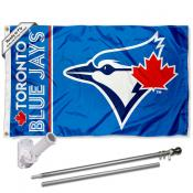 Toronto Blue Jays Flag Pole and Bracket Kit