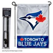 Toronto Blue Jays Logo Garden Flag and Stand