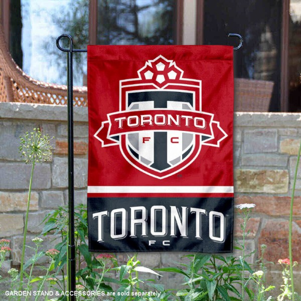 Toronto FC Garden Flag is 12.5x18 inches in size, is made of 2-ply polyester, and has two sided screen printed logos and lettering. Available with Express Next Day Shipping, our Toronto FC Garden Flag is MLS Genuine Merchandise and is double sided.