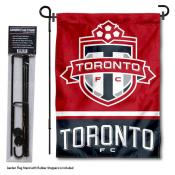 Toronto FC Garden Flag and Flagpole Stand