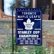 Toronto Maple Leafs 13 Time Stanley Cup Champions Garden Flag