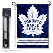 Toronto Maple Leafs Garden Flag and Flagpole Stand