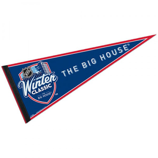 Toronto Maple Leafs Winter Classic Pennant is our NHL team pennant which measures 12x30 inches, is made of felt, and is single sided screen printed. Our Toronto Maple Leafs Winter Classic Pennant is perfect for showing your NHL hockey allegiance in any room of the house and is NHL Genuine Merchandise.