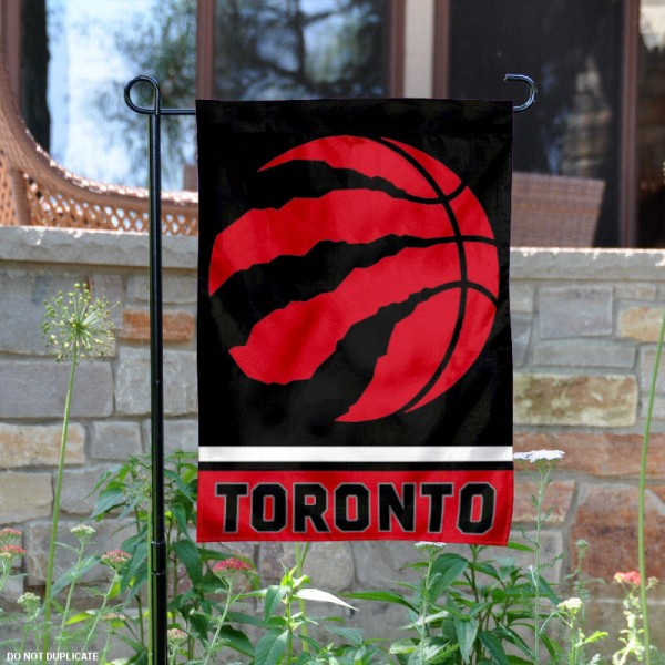 Toronto Raptors Garden Flag is 12.5x18 inches in size, is made of 2-ply polyester, and has two sided screen printed logos and lettering. Available with Express Next Day Shipping, our Toronto Raptors Garden Flag is NBA Genuine Merchandise and is double sided.