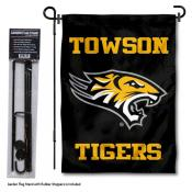 Towson Tigers Garden Flag and Pole Stand
