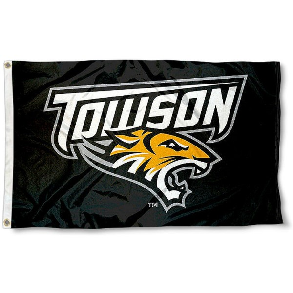 Towson Tigers Primary Logo Flag measures 3x5 feet, is made of 100% polyester, offers quadruple stitched flyends, has two metal grommets, and offers screen printed NCAA team logos and insignias. Our Towson Tigers Primary Logo Flag is officially licensed by the selected university and NCAA.