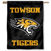 Towson Tigers Wordmark Logo House Flag