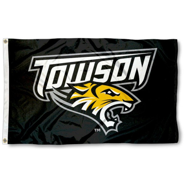 Towson University 3x5 Flag is made of 100% nylon, offers quad stitched flyends, measures 3x5 feet, has two metal grommets, and is viewable from both side with the opposite side being a reverse image. Our Towson University 3x5 Flag is officially licensed by the selected college and NCAA.