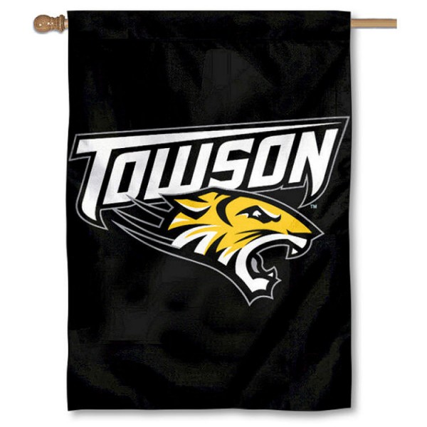 Towson University Tigers House Flag is a 2-ply double sided house flag which measures 28x40 inches, is made of 100% nylon with liner, offers printed NCAA team insignias, and has a top pole sleeve to hang vertically. Our Towson University Tigers House Flag is officially licensed by the selected school and the NCAA.