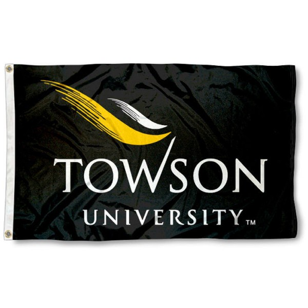 Towson University Wordmark 3x5 Flag is made of 100% nylon, offers quad stitched flyends, measures 3x5 feet, has two metal grommets, and is viewable from both side with the opposite side being a reverse image. Our Towson University Wordmark 3x5 Flag is officially licensed by the selected college and NCAA.
