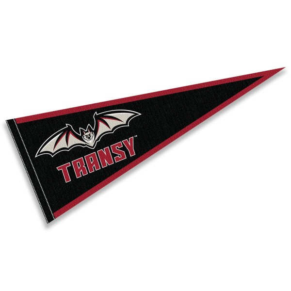 Translyvania Pioneers Pennant consists of our full size sports pennant which measures 12x30 inches, is constructed of felt, is single sided imprinted, and offers a pennant sleeve for insertion of a pennant stick, if desired. This Translyvania Pioneers Pennant Decorations is Officially Licensed by the selected university and the NCAA.