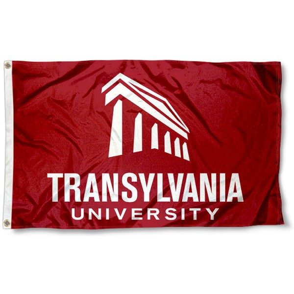 Translyvania Pioneers Wordmark Flag measures 3x5 feet, is made of 100% polyester, offers quadruple stitched flyends, has two metal grommets, and offers screen printed NCAA team logos and insignias. Our Translyvania Pioneers Wordmark Flag is officially licensed by the selected university and NCAA.
