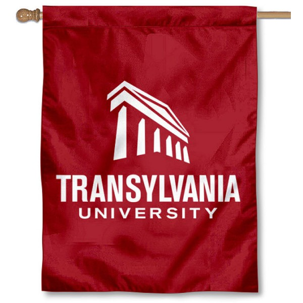 Transy Pioneers House Flag is a vertical house flag which measures 30x40 inches, is made of 2 ply 100% polyester, offers screen printed NCAA team insignias, and has a top pole sleeve to hang vertically. Our Transy Pioneers House Flag is officially licensed by the selected university and the NCAA.