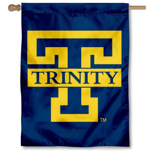 Trinity Bantams House Flag is a vertical house flag which measures 30x40 inches, is made of 2 ply 100% polyester, offers screen printed NCAA team insignias, and has a top pole sleeve to hang vertically. Our Trinity Bantams House Flag is officially licensed by the selected university and the NCAA.