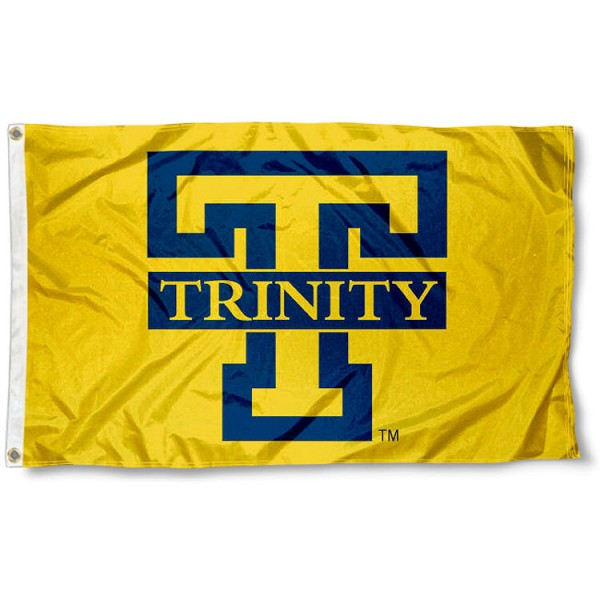 Trinity College Bants Flag measures 3x5 feet, is made of 100% polyester, offers quadruple stitched flyends, has two metal grommets, and offers screen printed NCAA team logos and insignias. Our Trinity College Bants Flag is officially licensed by the selected university and NCAA.