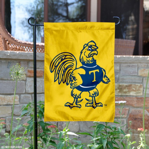 Trinity College Mascot Garden Flag is 13x18 inches in size, is made of 2-layer polyester, screen printed university athletic logos and lettering, and is readable and viewable correctly on both sides. Available same day shipping, our Trinity College Mascot Garden Flag is officially licensed and approved by the university and the NCAA.