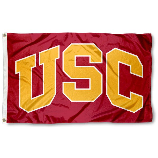 Trojans Flag measures 3x5 feet, is made of 100% nylon, offers quadruple stitched flyends, has two metal grommets, and offers screen printed NCAA team logos and insignias. Our Trojans Flag is officially licensed by the selected university and NCAA.