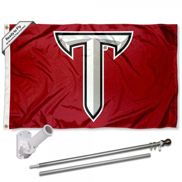 Troy Trojans Power T Flag Pole and Bracket Kit